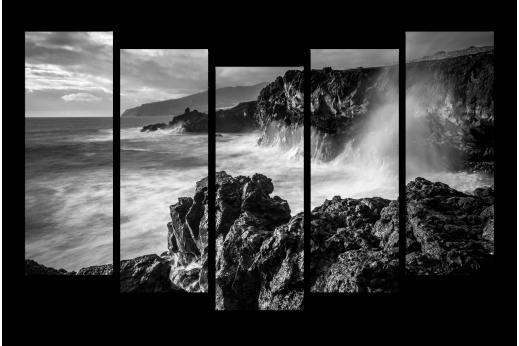 Модульная картина Волны и скалы